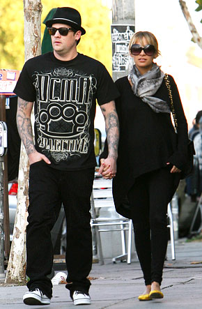 Joel Madden And Nicole Richie And Kids. Nicole amp; Joel go for a